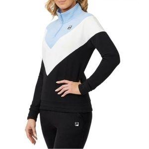 Fila Womens' 1/4 Zip Pullover Sweatshirt Medium
